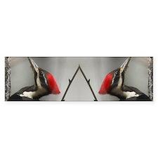 Pileated Woodpecker Done copy Bumper Sticker