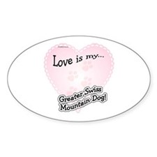 Love is Swissy Oval Decal