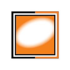 """blk orange Square Sticker 3"""" x 3"""""""