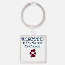 Breed of choice Square Keychain