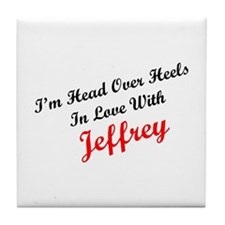 In Love with Jeffrey Tile Coaster