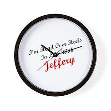 In Love with Jeffery Wall Clock