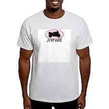 Just Ride (pink) Ash Grey T-Shirt