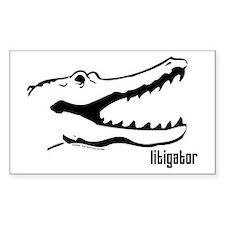 Litigator Rectangle Decal