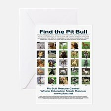FindthePitBull16x20 Greeting Card