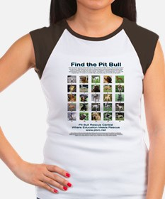 FindthePitBull16x20 Women's Cap Sleeve T-Shirt