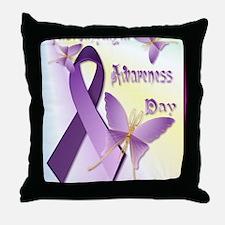 Fibromyalgia Awareness Day Poster-P Throw Pillow