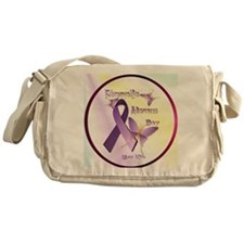 Fibromyalgia Awareness Day--Circle Messenger Bag