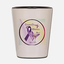 Fibromyalgia Awareness Day--Circle Shot Glass