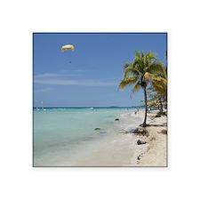 "Negril 7 mile beach apr 201 Square Sticker 3"" x 3"""