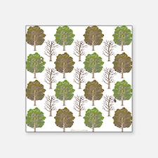 """ArgyleTrees01 Square Sticker 3"""" x 3"""""""