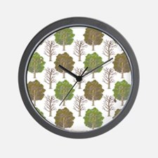 ArgyleTrees01 Wall Clock
