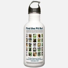 FindthePitBull copy Water Bottle