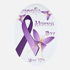 Fibromyalgia Awareness Day Trans Oval Ornament