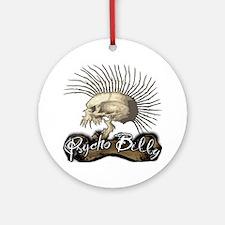 Psycho Billy Round Ornament