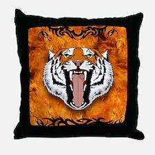 blankettigerbighead Throw Pillow