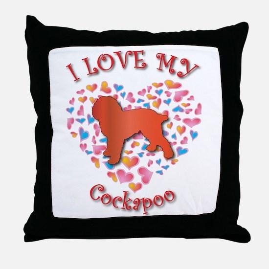 Love Cockapoo Throw Pillow