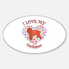 Love Cockapoo Oval Decal