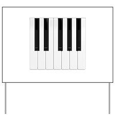 Piano / Keyboard Keys Yard Sign
