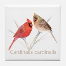 Cardinal pair Tile Coaster