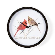 Cardinal pair Wall Clock