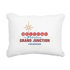 GRAND JUNCTION DARK Rectangular Canvas Pillow