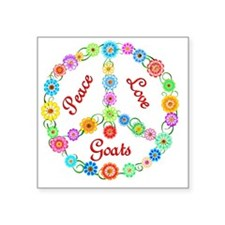 "goat Square Sticker 3"" x 3"""