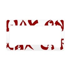 Wax-on-wax-off-(white-shirt) License Plate Holder