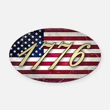 usa-flag-1776 Oval Car Magnet