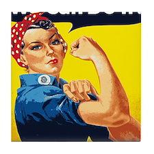 Rosie the Riveter Blanket Tile Coaster