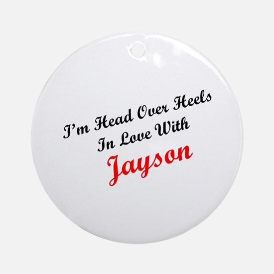 In Love with Jayson Ornament (Round)