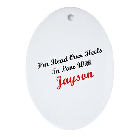 In Love with Jayson Oval Ornament