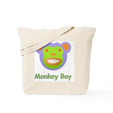 Face Monkey Boy Tote Bag
