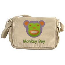 Face Monkey Boy Messenger Bag