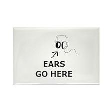 Ears Go Here Rectangle Magnet