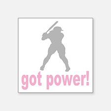 "got power a(blk) Square Sticker 3"" x 3"""