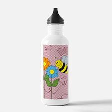 blanketbeesflowers Water Bottle
