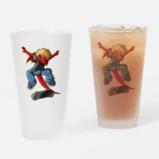 DragonKickflip_Dark Drinking Glass