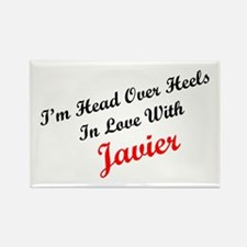 In Love with Javier Rectangle Magnet