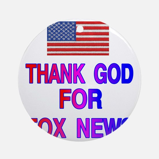 FOX NEWS Round Ornament