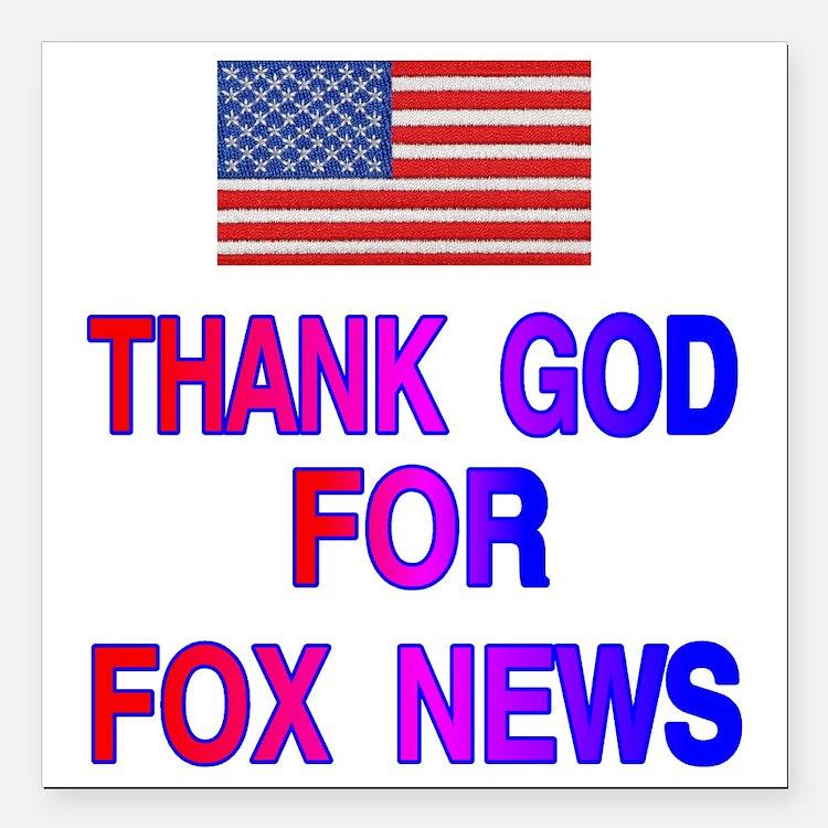 "FOX NEWS Square Car Magnet 3"" x 3"""