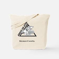 gjj shark shirt front Tote Bag