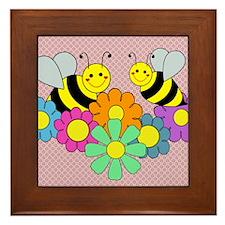 blanketbeesflowers2 Framed Tile