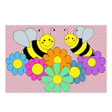 blanketbeesflowers2 Postcards (Package of 8)