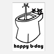 happy b-day Postcards (Package of 8)