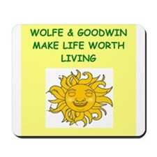 wolfe and goodwin Mousepad