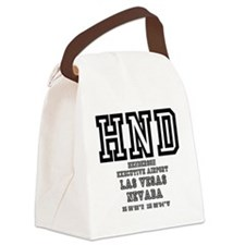AIRPORT CODES -HND - LAS VEGAS, N Canvas Lunch Bag