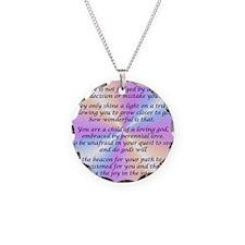 45_45LivingInLightSquare Necklace Circle Charm