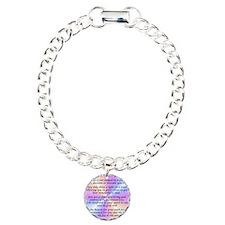45_45LivingInLightSquare Charm Bracelet, One Charm