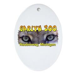 Animal Eyes Oval Ornament